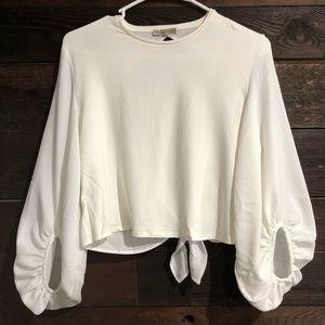 Zara Boho white crop top